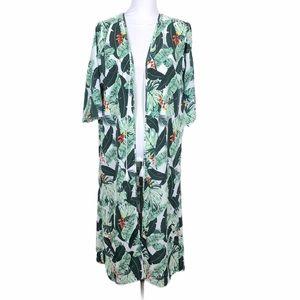Rachel Zoe Palm Print Kimono Duster swim coverup